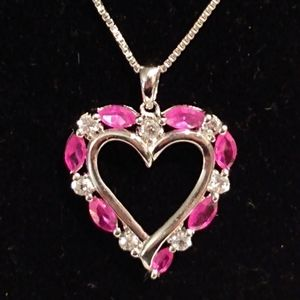 925 Silver Necklace with Heart Pendant